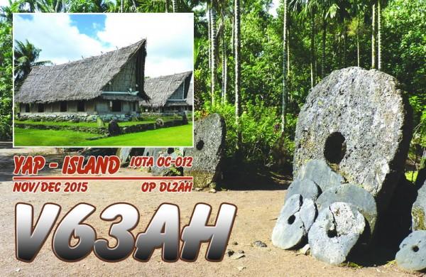 Yap Island V63AH QSL