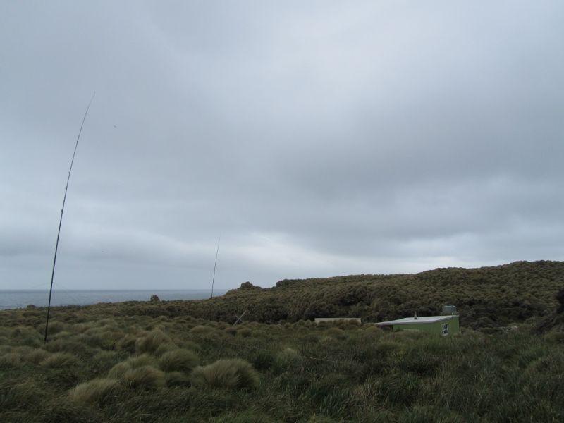 ZL9A Antipodes Islands Vertical antennas