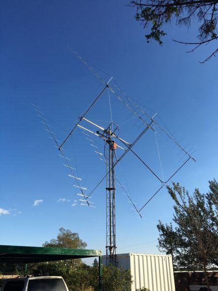 ZS4TX Блумфонтейн ЮАР EME антенны фото