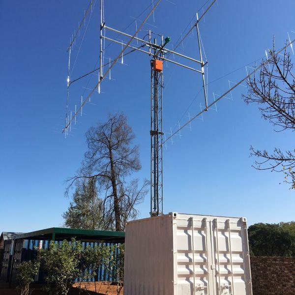 ZS4TX Блумфонтейн EME антенны.