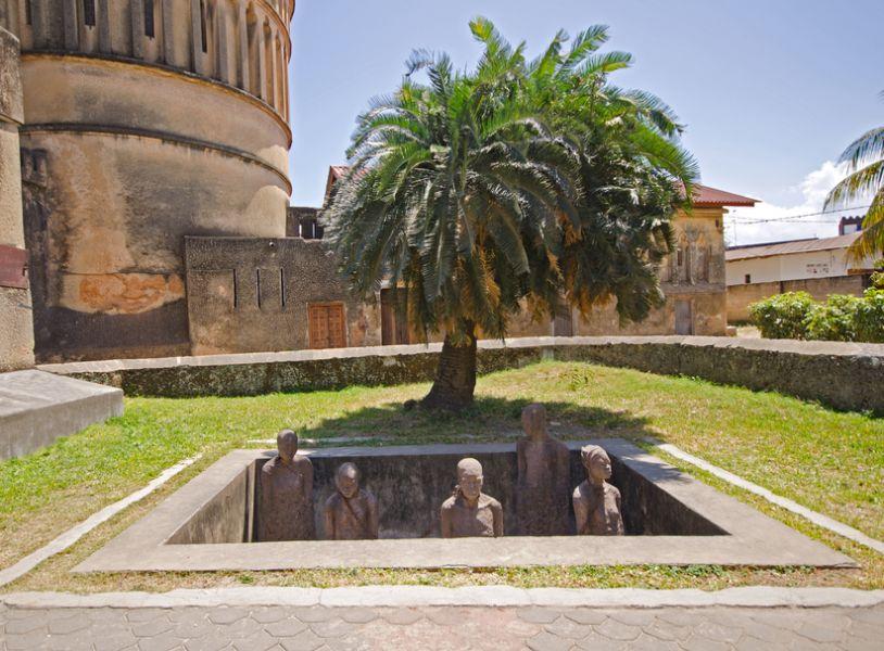 Zanzibar Island 5H1MD Slave Market Memorial in Stone Town on Zanzibar Island