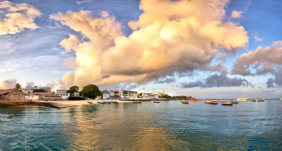 Zanzibar Island 5H1MD DX News Sunrise with clouds Zanzibar