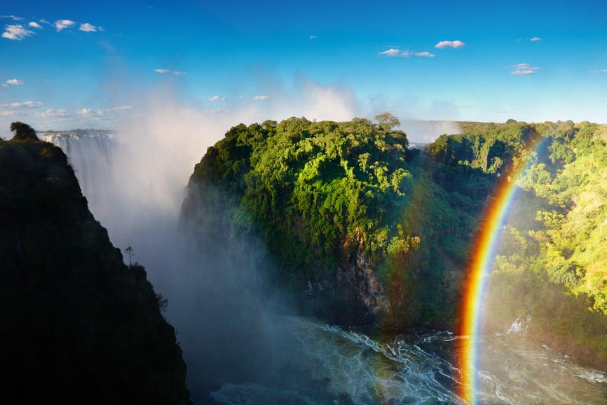 Зимбабве Z21LS Туристические достопримечательности Водопад Виктория