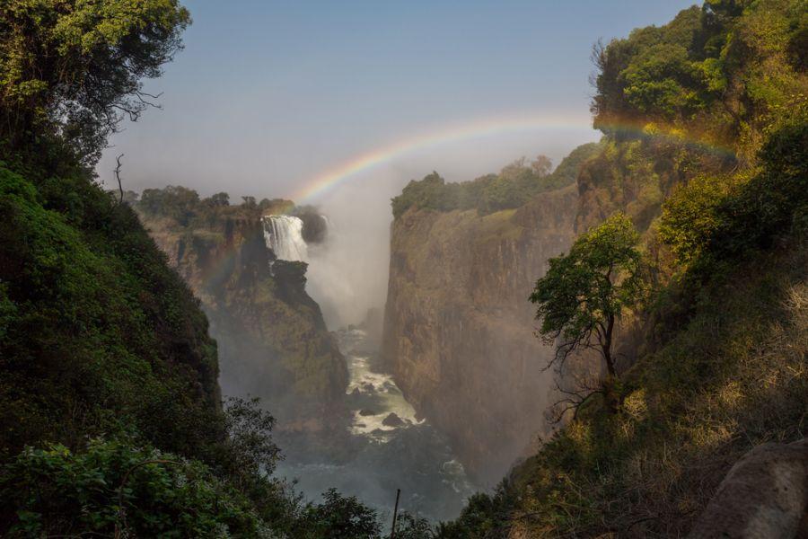 Зимбабве Z21MH DX Новости Водопад Виктория, каньон и радуга.