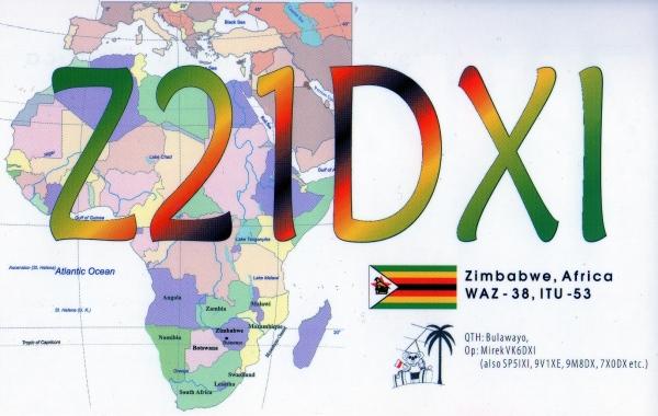 Zimbabwe Z21DXI QSL
