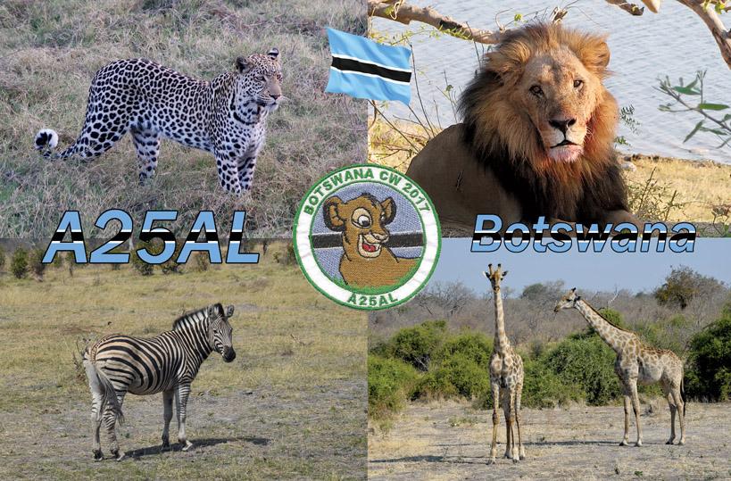Botswana A25AL QSL