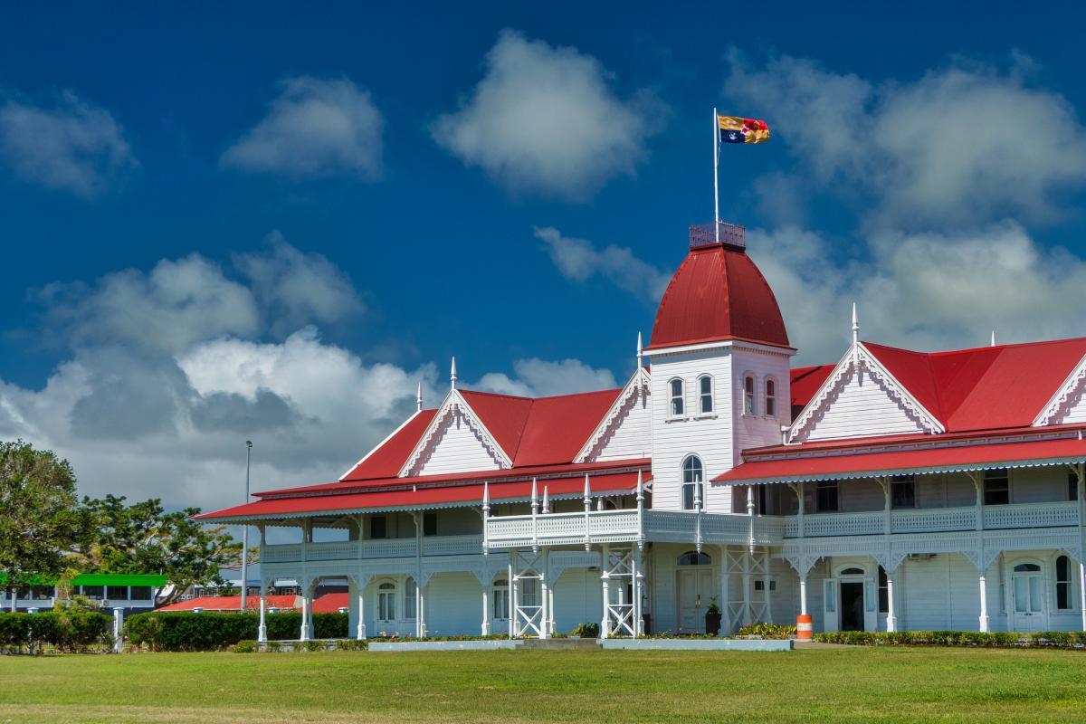 A35EU Королевский дворец, Нукуалофа, остров Тонгатапу, Тонга.