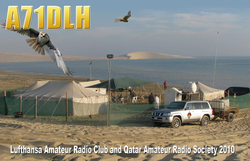 A71DLH Lufthansa Amateur Radio Club QSL