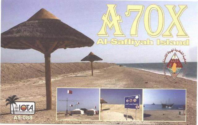 Al Safliyah Island A70X QSL