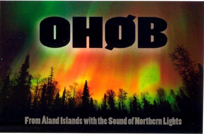 Aland Islands OH0B QSL