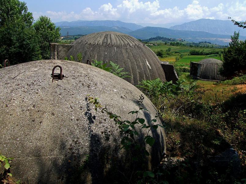 Албания ZA/OG1N Туристические достопримечательности Бункеры.