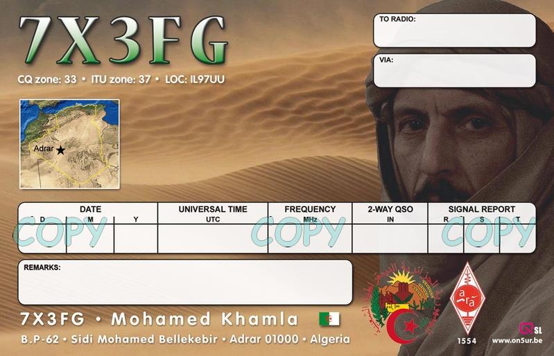 Algeria 7X3FG QSL 2
