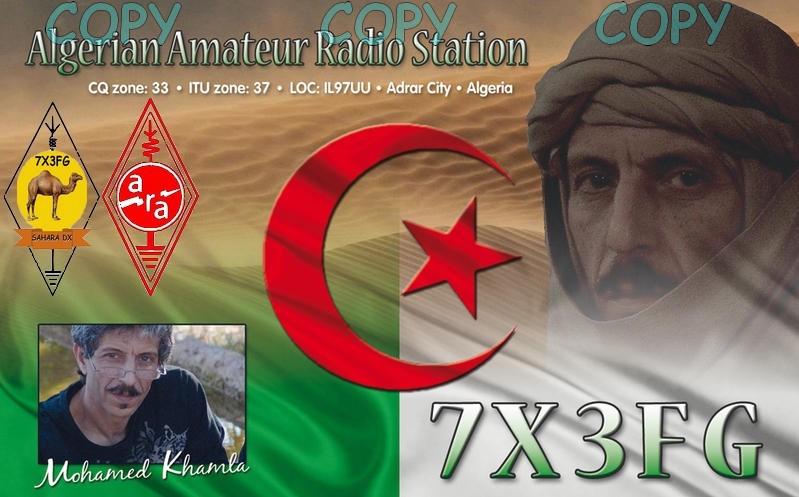 Algeria 7X3FG DX News QSL