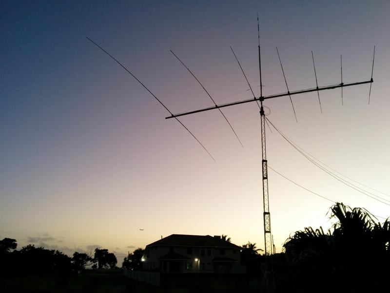 Barbados 8P9EH DX News Antenna