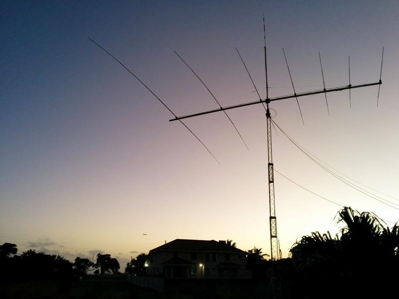Barbados 8P9EH DX News Antenna