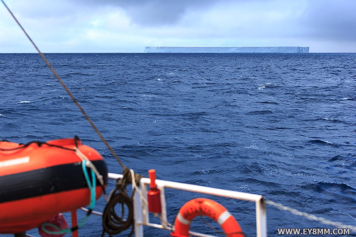 Hude Iceberg passing Bouvet Island 3 February 2018