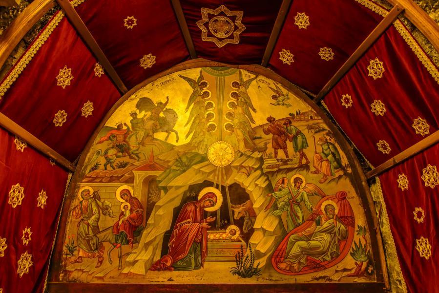 Вифлеем Палестина E44WE Картина рождения Христа
