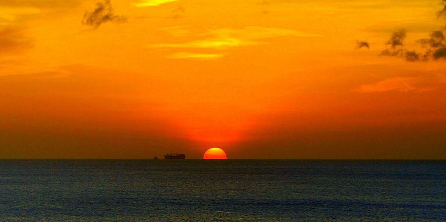 Остров Бонэйр PJ4/DJ2VO PJ4/DL3KMS Закат