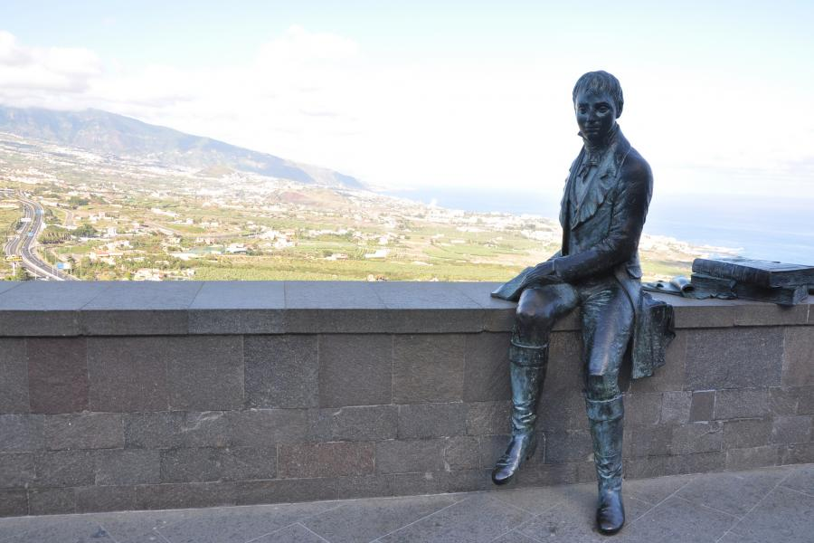 Canary Islands ED8W Tourist attractions spot Naturalist Alexander Humboldt, Tenerife.