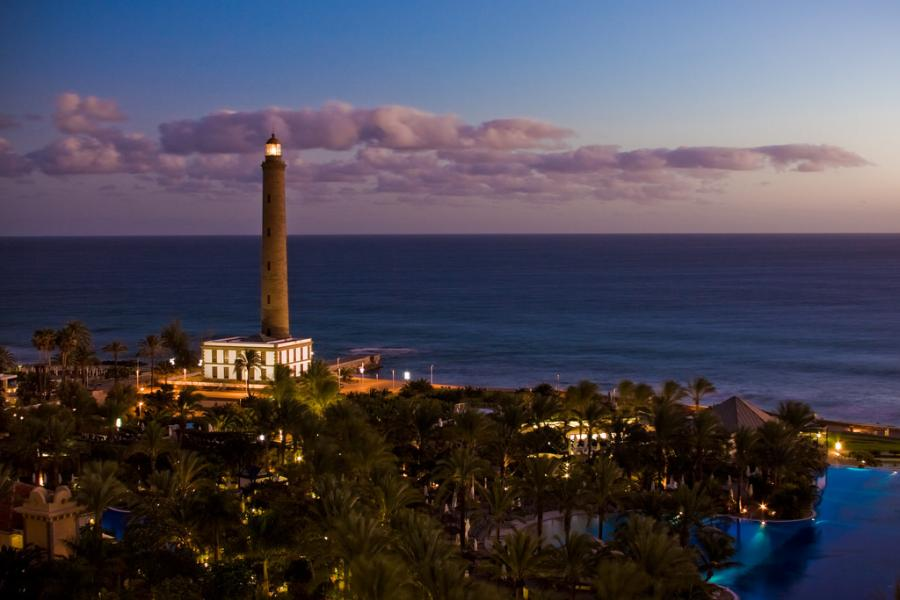Canary Islands EF8U Tourist attractions spot Faro de Maspalomas, Gran Canaria.