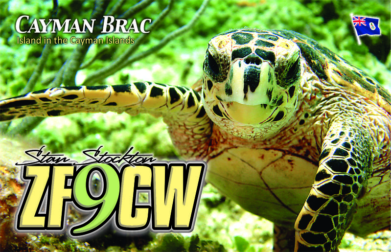 Cayman Brac Island Cayman Islands ZF9CW QSL