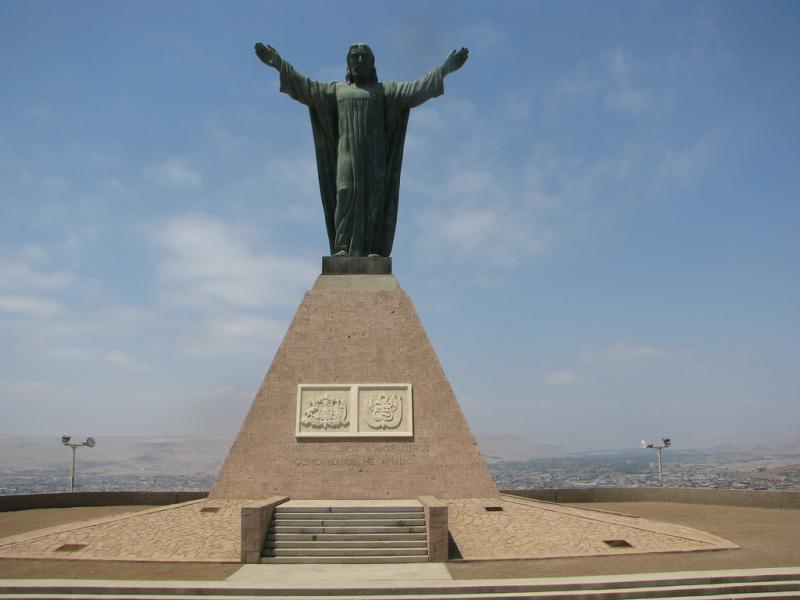 Чили XR6N Туристические достопримечательности Статуя Христа