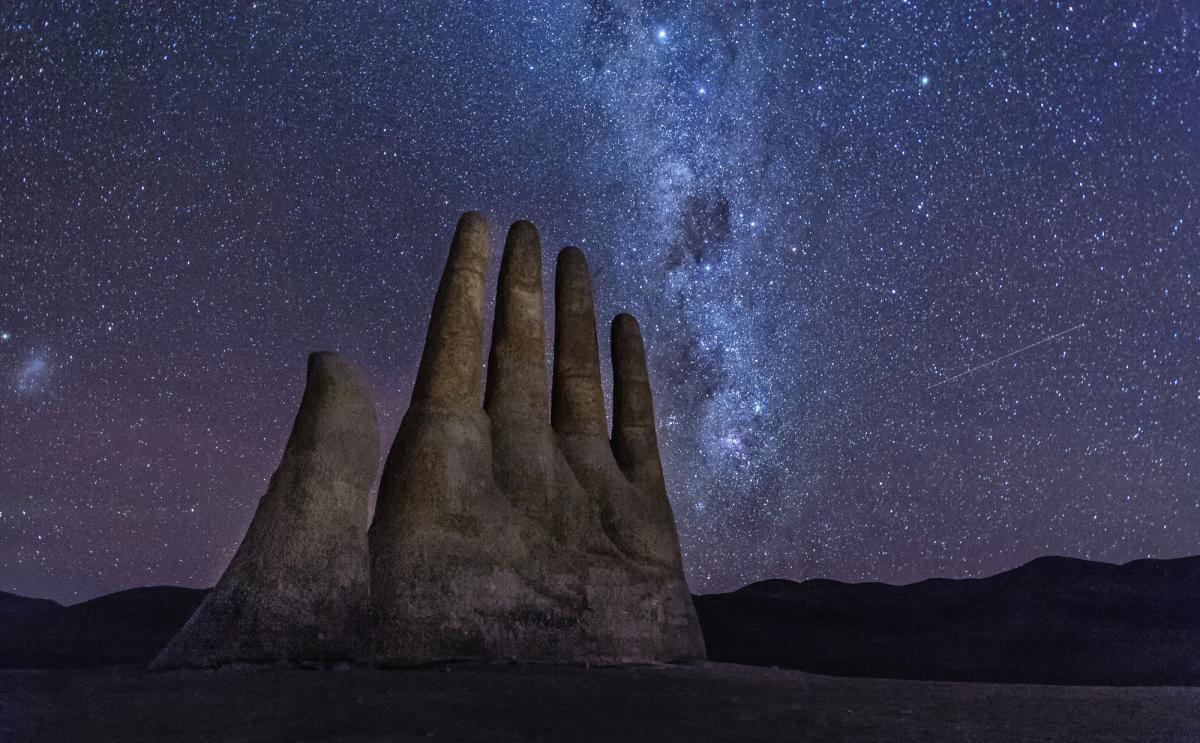 Звездное небо, Рука в пустыне, Мано дель Дисьерто, Чили