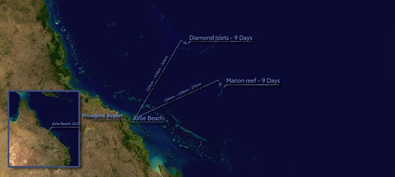 Марион Риф Острова Кораллового моря VK9MAV Карта.