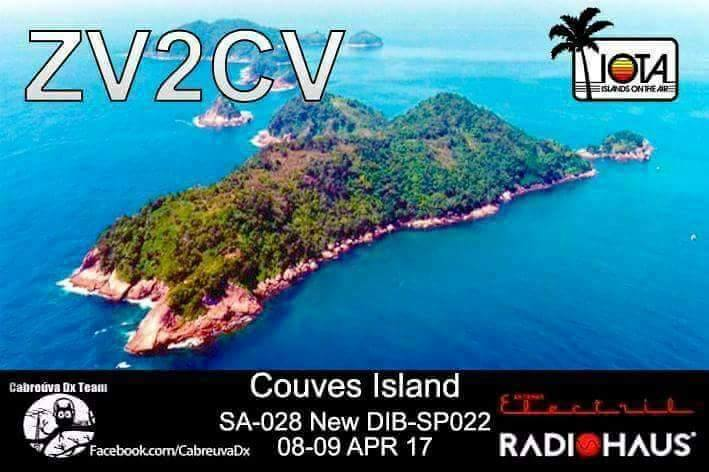 Couves Island ZV2CV Amateur Radio IOTA Expedition Cabreuva DX Team