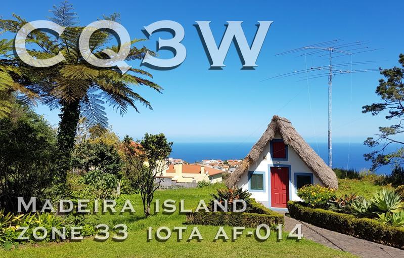CQ3W Madeira Island QSL