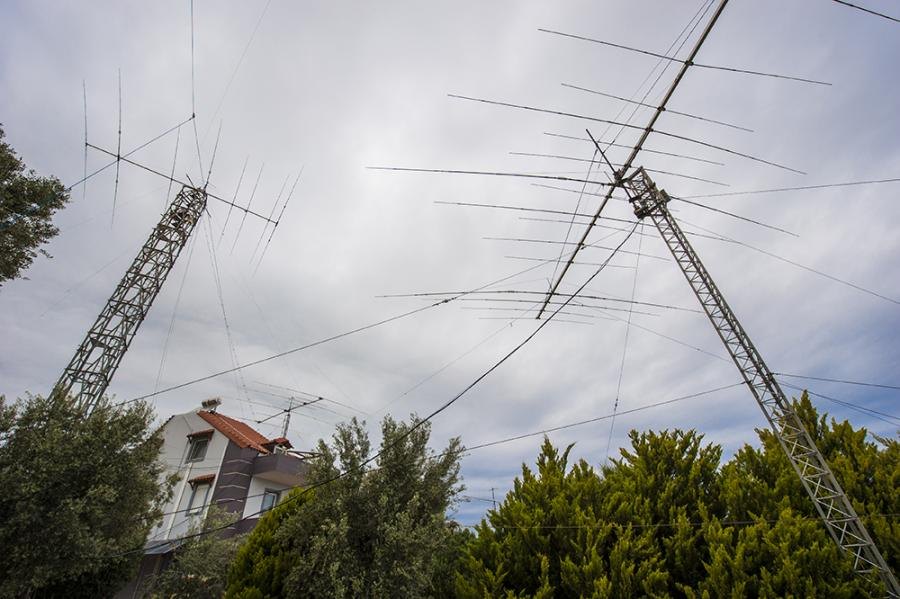 Crete Island SV9CVY The Four Antenna towers of SV9CVY
