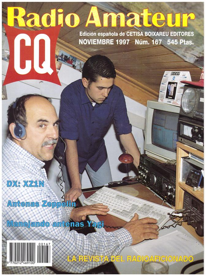 The cover of Spanish CQ magazine with Antonio, CT1DVV
