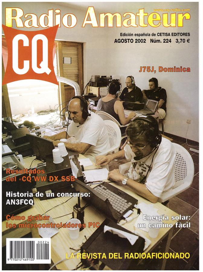 CT1DVV The cover of Spanish CQ magazine with five members of the D44TC 2001 CQ WW SSB team in Sal, Cape Verde Islands. Antonio, CT1DVV, in the center.