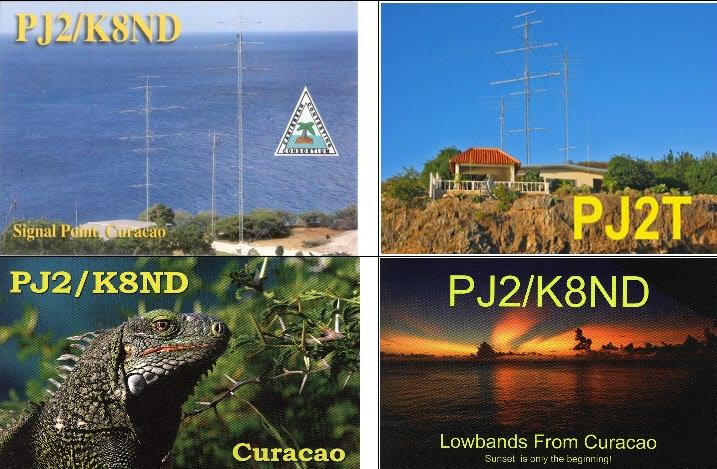 Curacao Island PJ2/K8ND PJ2T QSLs