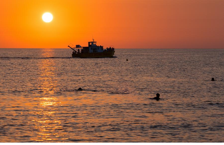 Кипр 5B/DL6JF Закат Пафос