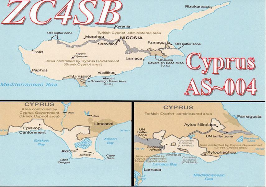 Cyprus ZC4SB QSL