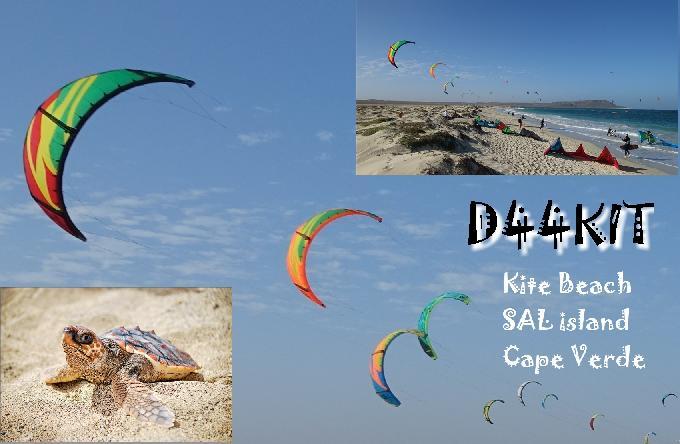 D44KIT Sal Island, Cabo Verde, Cape Verde QSL.