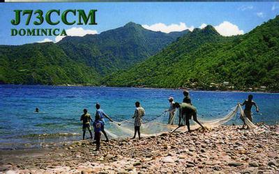Dominica Island J73CCM QSL
