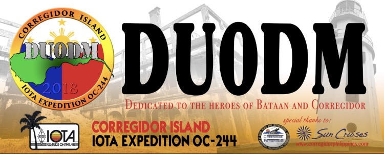 DU0DM Corregidor Island DX Pedition Logo