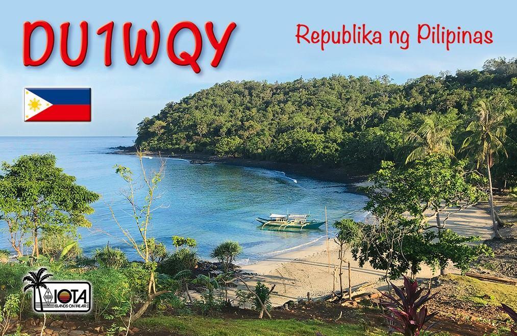 DU1WQY Филиппины QSL