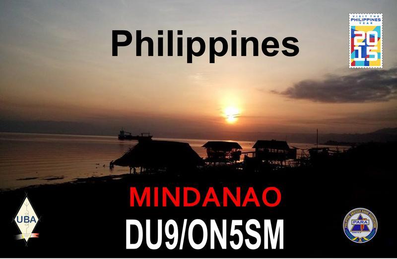 Mindanao Island DU9/ON5SM QSL