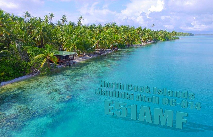Manihiki Island E51AMF QSL