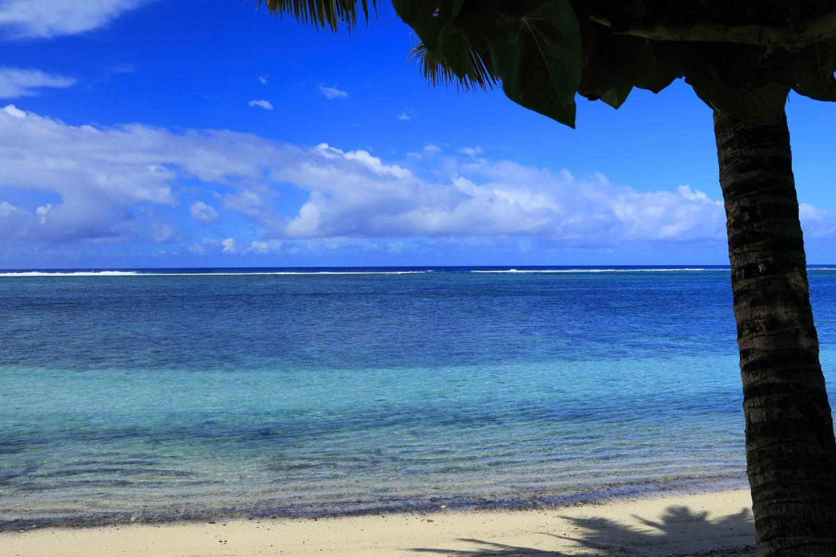 E51BOU Rarotonga Island, Cook Islands. Tourist attractions spot