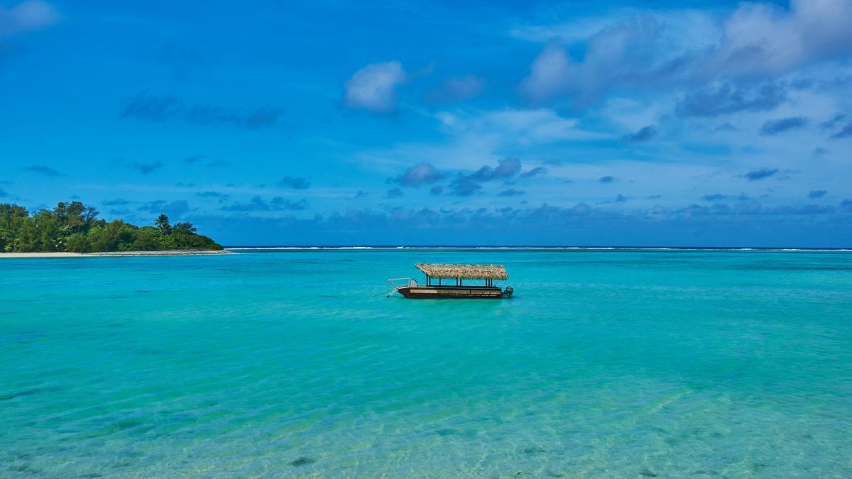 E51HMK Rarotonga Island, Cook Islands. Tourist attractions spot