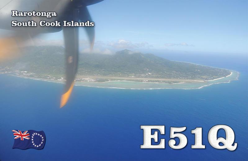 Rarotonga Island E51Q QSL