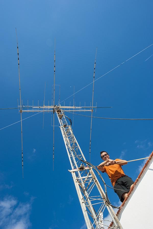 EA6 Menorca Island EA6ALW Tower and antennas