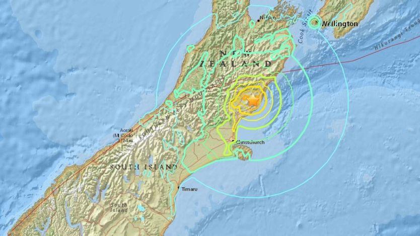 Землетрясения Цунами Южный остров Новая Зеландия Радиолюбительская аварийно спасательная служба.
