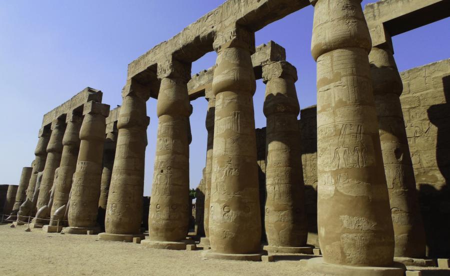 Египет SU9JG Туристические достопримечательности Храм Луксор.