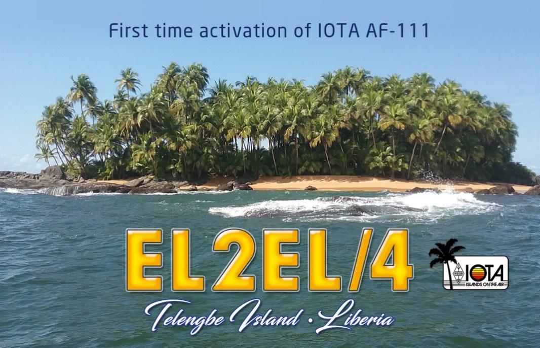 EL2EL/4 Telengbe Island QSL Card