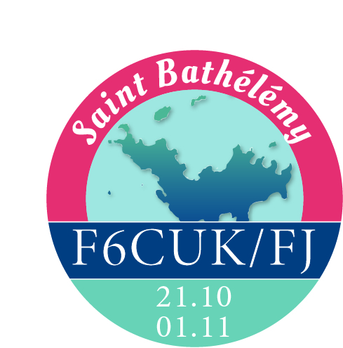 F6CUK/FJ Saint Barthelemy Island Logo